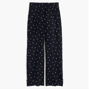 NEW J.CREW Full-length Pant with Polka Dot Size 6